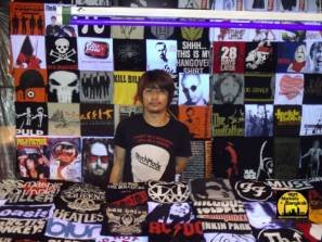 Selling t-shirts @ Silom Night Market