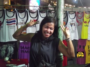 Having fun at Siam night Market