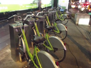 Bikes to Rent at Siam Square in Bangkok