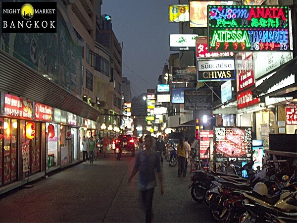 When you get off the BTS you will run directly into the Silom Night Market Alleys of amazing un and great food. f