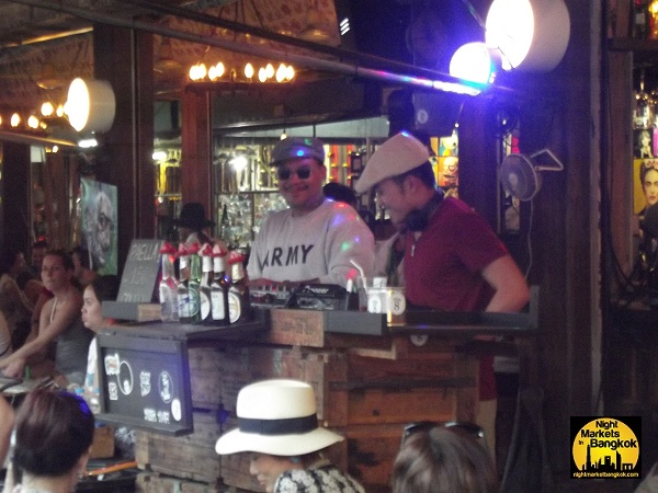 The DJ at the Bar in the middle of Chatuchak Market!