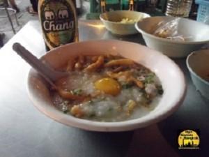 Eating Joke at Khao San Road Market