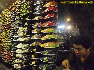 Sellng lots of Sneakers at Saphan Phut Night Market
