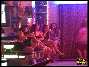 Girls hanging out at Nana Plaza