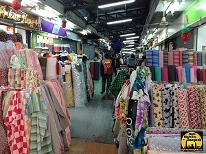 Buy silk wholesale at the Phahurat Indian Market
