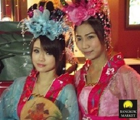 Traditional chinese Thai Girls