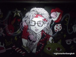 Graffiti at Siam Night Market