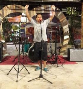 Having fun singing at the Gypsy Music Camp